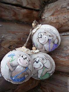 Три шарика в мешочке с росписью 2500 рублей