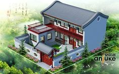 Chinese Courtyard Courtyard House And Building Drawing On