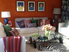 Orange wall Orange Walls, Couch, Furniture, Home Decor, Texture, Settee, Decoration Home, Sofa, Room Decor