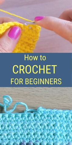 Knitting For Beginners, Crochet Stitches For Beginners, Beginner Crochet Tutorial, Beginner Crochet Projects, Crochet Instructions, Crochet Videos, Crochet Basics, Start Knitting, Easy Knitting