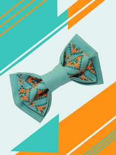 wedding bow tie embroidered bowtie turquoise bow by accessories482