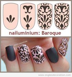 See more about baroque and nails. Crazy Nail Art, Crazy Nails, Nail Polish Art, Gel Nail Art, Nail Art Designs, Nails Decoradas, Tumblr Nail Art, Nail Drawing, Vintage Nails