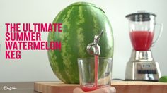How to make a watermelon keg. Watch our video to learn how to tap it—and how to make the perfect drink to serve in it. Because every party needs one of these.