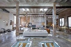 new dream space | abandoned warehouse, brick walls, high ceilings, big windows, old vintage feel | crazy sensible
