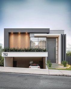 Modern Exterior House Designs, Modern Small House Design, Modern House Facades, Dream House Exterior, House Outer Design, House Arch Design, Facade Design, Modern Townhouse, Villa