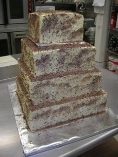 Tiramisu Wedding Cake.... This actually exists? PERFECT for a groom that doesn't like cake!