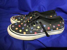 2061fb7e46c1bc Vans Shoes Womens Size 7.5 Rainbow Polka Dot  fashion  clothing  shoes   accessories