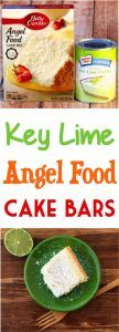 With just 2 Ingredients, these Easy Key Lime Angel Food Dessert Bars are the perfect go-to dessert for when you need a fun dessert without the work!