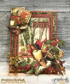 Season's Greeting Envelope, Winter Wonderland, By Katelyn Grosart, Product by Graphic 45, Photo 1.jpg