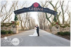 Winter Wedding Portrait at Gervasi Vineyard 1700 55th St NE, Canton, OH. Call for fees because they are always changing their rules (at this time, from what I know, you can only have a session there if you have a wedding there or upcoming but they change their minds all the time)