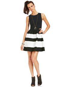 Bar III Striped Dress - Bar III - Women - Macy's