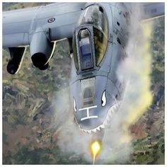 """Thunderbolt II, this unique aircraft is known as the """"Warthog"""" - Aircraft design Military Jets, Military Weapons, Military Aircraft, Air Fighter, Fighter Jets, Photo Avion, Close Air Support, Naval, Aircraft Design"""