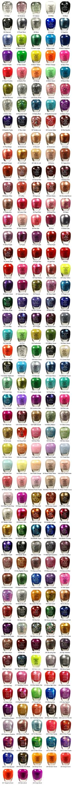 KLEANCOLOR Nail Lacquer. I shit you not, I want them ALL!