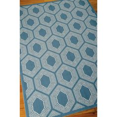 Waverly Bubbly Bluebell 5 ft. 3 in. x 7 ft. 5 in. Indoor/Outdoor Area Rug-234223 - The Home Depot