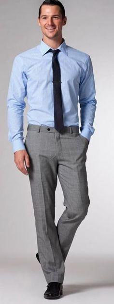 gray slacks with tie - Google Search