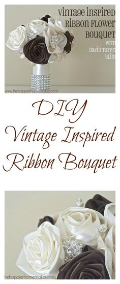 Easy DIY Tutorial to create a gorgeous vintage inspired flower wedding bouquet-can you believe the base is a toilet roll??