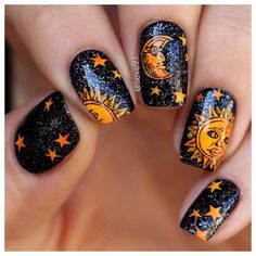 If you want to feel like a star – why not to start with your nails? Starry patterns are extremely dreamy and fascinating. These days ther techniques to create a manicure with star design.Check all of it in our new post. Star Nail Art, New Nail Art, Acrylic Nail Art, Cool Nail Art, Painted Nail Art, Star Nail Designs, Cool Nail Designs, Cute Nails, Pretty Nails