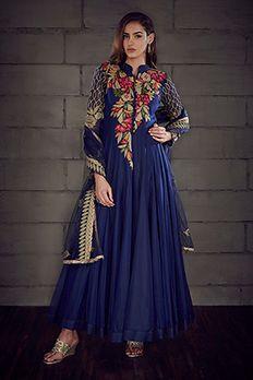 Love the Chanderi Silk Kurta Churidar from BenzerWorld!