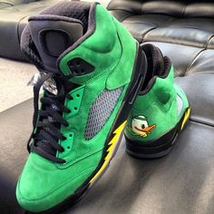 "Air Jordan 5 ""Oregon Ducks"" ( On Feet )"