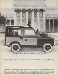 The Land Rover Concours d' Elegance Entry for 1964, One imagines they're worried sick over at the Brand X Limousine Division