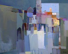 Plaza y nubes by Miguel Torrus