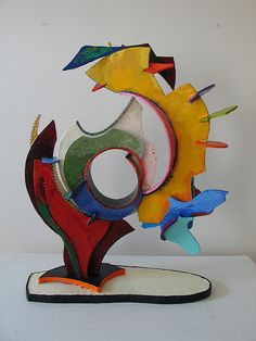 abstract foamcore sculptures  3D Art   We take foamcore sheets and cut out shapes using scissors, great for teaching how planes intersect and for abstracting animals or plants