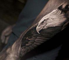 Photo – Eagle tattoo by Niki Norberg - tatoo feminina Eagle Tattoo Forearm, Eagle Wing Tattoos, Black Eagle Tattoo, Eagle Chest Tattoo, Wolf Tattoos Men, Black Tattoos, Animal Tattoos For Men, Tribal Tattoos, Animal Sleeve Tattoo