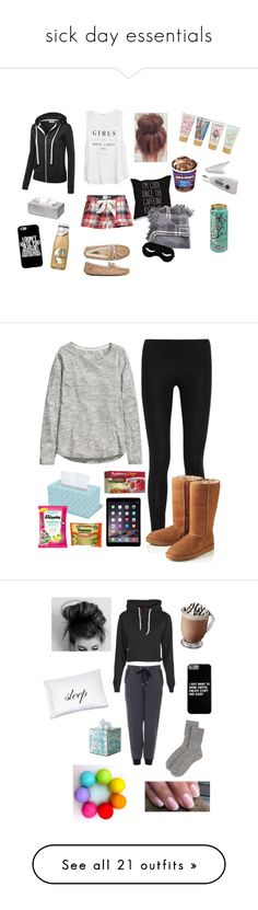 """""""sick day essentials"""" by jillian07 ❤ liked on Polyvore featuring Fat Face, MANGO, UGG Australia, blomus, Forever 21, Donna Karan, H&M, Celestial Seasonings, Topshop and Boohoo"""