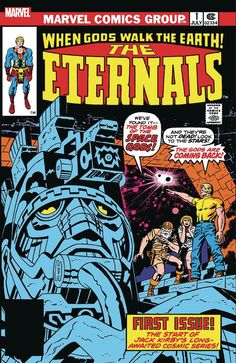 In the legendary King of comics Jack Kirby returned to Marvel brimming with cosmic ideas - and none were bigger than the Earth-shattering immortals known as the Eternals! In this mind-blowing first issue, Kirby unleashes the full brilliance . Marvel Vs, Lego Marvel, Marvel Avengers Games, Marvel Comics, Marvel Comic Books, Marvel Ultimate Alliance 3, Comic Book List, Comic Book Covers, Champions Marvel