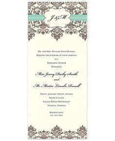 Cocoa Elegance Invitations by Inviting Company -- FineStationery.com
