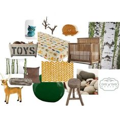 """nature inspired """"Boys Woodland Nursery"""" by daybydaydesign land of nod, river rock pillows, forest vinyl"""