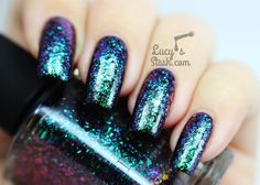 Rückblick: ILNP Ultra Chrome Flakies Collection – Teil 1 (pic heavy) – Lucy's Stash – – Rebel Without Applause Shellac Nails, Diy Nails, Acrylic Nails, Patrick Nagel, Nail Stamping Designs, Nail Designs, No Wifi Games, Nagel Stamping, Nail Polish Collection
