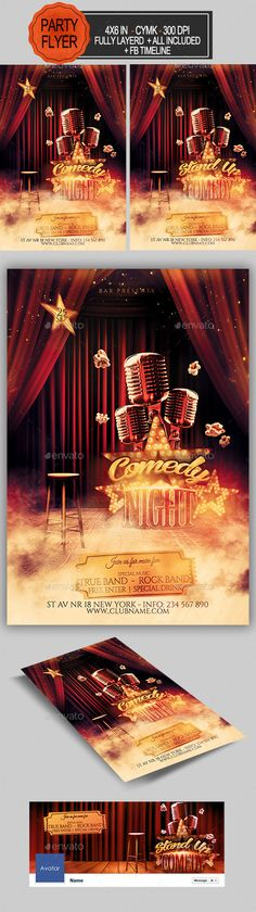 Comedy Show Flyer | Flyer Template, Flyers And Comedy Show
