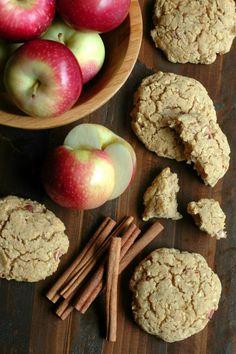 Healthy Apple Cinnamon Breakfast Cookies :: Refined Sugar Free & Gluten…