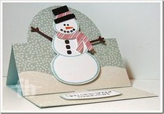 Snowman2Build created by Frances Byrne using Snowman2build – The Stamps of Life and Sizzix Circle Stand-Ups Bigz Die