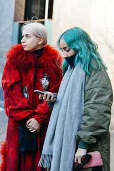 Tommy Ton Shoots the Best Street Style at the Fall '15 Shows Isabella Burley and Elizabeth Fraser-Bell