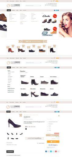 #Diseñoweb de la #tiendaonline de calzado cómodo Pasoscomodos.com.