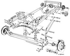 model t frame plans - Google Search. would be easy to down scale for a kart