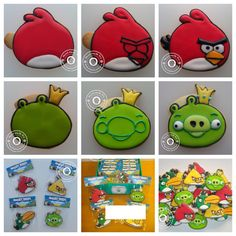 Angry birds how to cookies, Royal icing