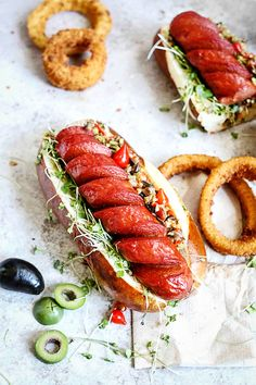Hot Dog with olive tapenade