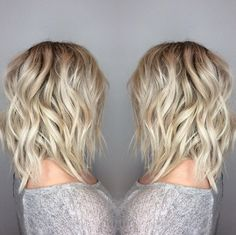 Blond balayage Aveda hair color perfect for Spring.