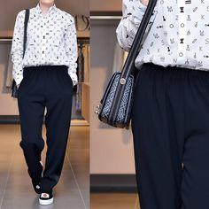 «: Рубашка, брюки #kenzo коллекция осень - зима 2015/16 Сумка #kenzo Слипоны #joshuasanders коллекция осень - зима 2015/16»