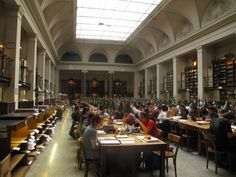 Library, University of Vienna, Austria  Founded in 1365, Vienna University Library is the oldest university library in the German-speaking countries; it is also the largest library in Austria, with an inventory of over 6.8 million books.