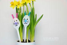 zajaczek i kurczak - dekoracja diy