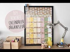 DIY de la RENTRÉE : calendrier organisateur (back to school)