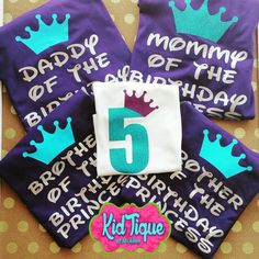 Birthday tee for all ages or theme custom made to your needs only at KidTique of Mcallen