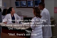 Haha grey's anatomy