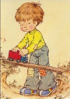 Reminds me of my son, Jayson, who loved playing with little wooden vehicles for hours.