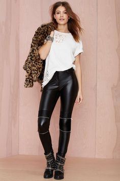 Bad Company Vegan Leather Leggings | Shop What's New at Nasty Gal
