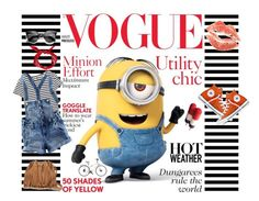 A fashion look from July 2015 featuring yellow tee, bleached shorts and rubber sandals. Browse and shop related looks. Polyvore Outfits, Polyvore Fashion, Sarah Summer, Yellow Minion, Blue Overalls, Minion Movie, Blue Long Sleeve Tops, Shades Of Yellow, Summer Trends